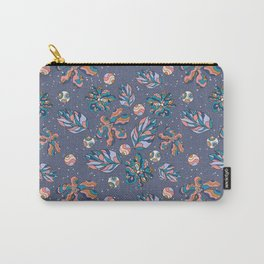 Crazy Flowers (blue) Carry-All Pouch