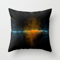 islam Throw Pillows featuring Istanbul City Skyline Hq v4 by HQPhoto