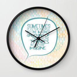 Imitation game.. sometimes the people, alan turing quote Wall Clock