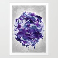 mineral Art Prints featuring Mineral by Lindella