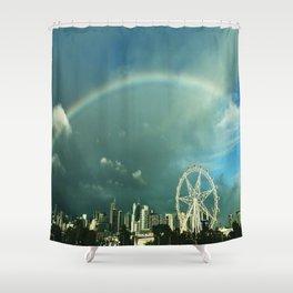 Rainbow over Melbourne Shower Curtain