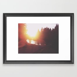 A day at the river Framed Art Print