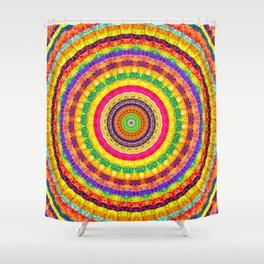 Batik Bullseye Shower Curtain