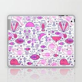 Sea pattern no 2 (pink) Laptop & iPad Skin