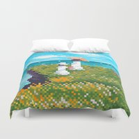 monet Duvet Covers featuring Modern Monet No.1 by Graphics by Hand