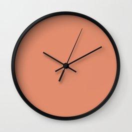 Simply Solid - Dark Salmon Wall Clock