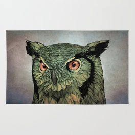Owl - Red Eyes Rug