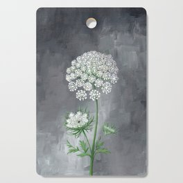 Queen Anne's Lace Flower Painting Cutting Board