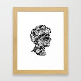 Butterfly Cameo Framed Art Print