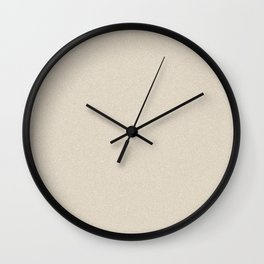 Dense Melange - White and Khaki Brown Wall Clock