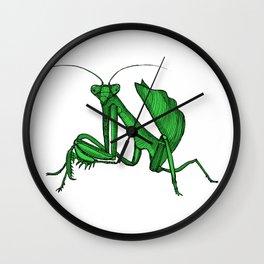 Priscilla the praying mantis Wall Clock