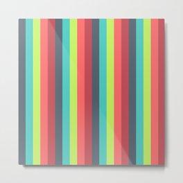 Cheer Up Striped Pattern Metal Print
