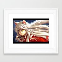 inuyasha Framed Art Prints featuring Inuyasha by Archiri Usagi