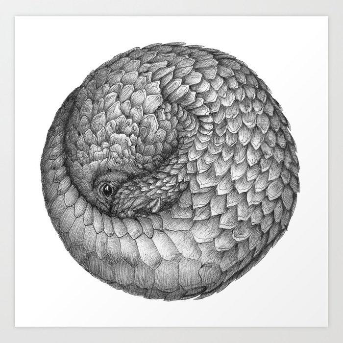 The Infinite Pangolin Art Print