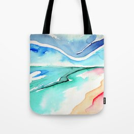 early light - beach at sunrise Tote Bag