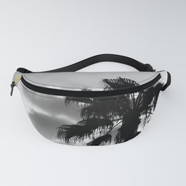 Palm Trees In Black And White Fanny Pack