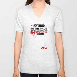Bloodstained T-shirt Unisex V-Neck