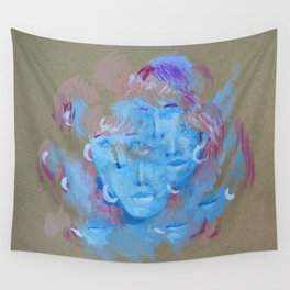 Many Faces Wall Tapestry