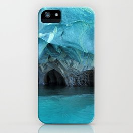 Marble blue 3 iPhone Case