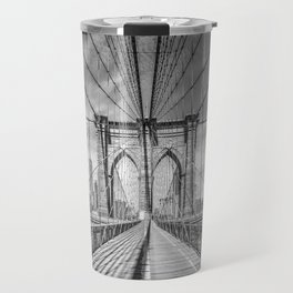 NEW YORK CITY Brooklyn Bridge | Monochrome Travel Mug