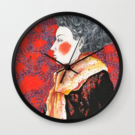 Red Face Wall Clock