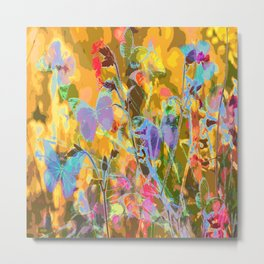 Butterflies flying in meadow - lovely colors and details - summer mood Metal Print