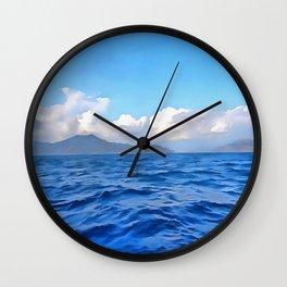 Aegean Blue Wall Clock