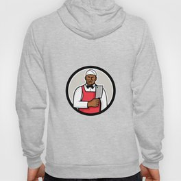 African American Butcher Circle Mascot Hoody