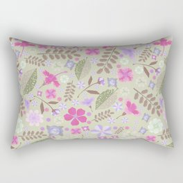 Fuchsia lavender pastel green tropical floral Rectangular Pillow