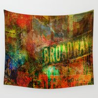 broadway Wall Tapestries featuring Slice of Broadway by Ganech joe