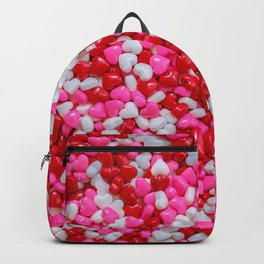 Sprinkle Hearts Candy Pattern Backpack