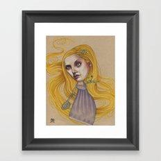 TANGLED HAIR Framed Art Print