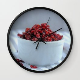 berries for the breakfast Wall Clock
