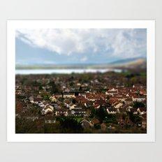 The Village of Cheddar Art Print