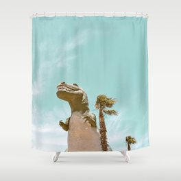 Pastel T-Rex Shower Curtain