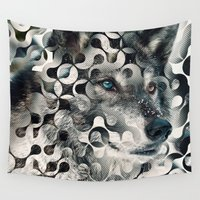 into the wild Wall Tapestries featuring wild by Vin Zzep