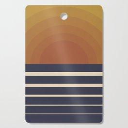 Retro Sunset Cutting Board