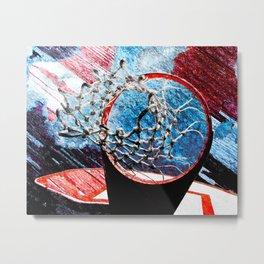 Basketball art print 157 Metal Print