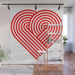 Hugging heart Wall Mural