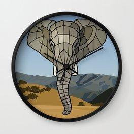 The Guardian - Mosaic Elephant Wall Clock