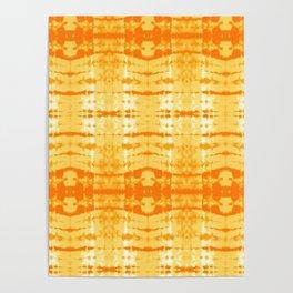 Satin Shibori Yellow Poster