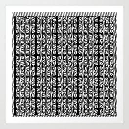 Black White design pattern Art Print