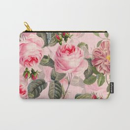 Vintage & Shabby Chic - Summer Roses Flower Garden Carry-All Pouch