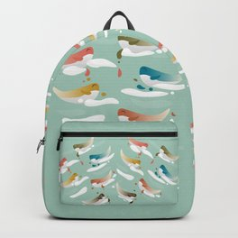 Whales fly in 1970 Backpack