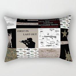 Marine Faux Quilt Rectangular Pillow