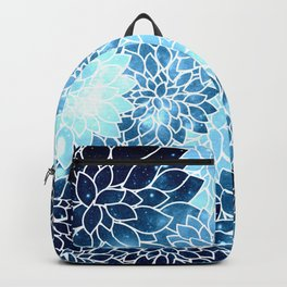 Space Dahlias Blue Ice Backpack