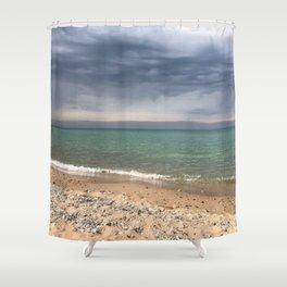 Lake Michigan Shoreline Shower Curtain