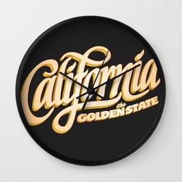 """The Golden State"" T-Shirt Wall Clock"