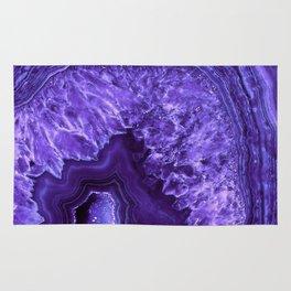 Ultra Violet Agate Mineral Gemstone Rug