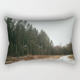 Winter in the woods in the Ardennes, Belgium| Snowy walks in the forest| Travel fine art photography Rectangular Pillow